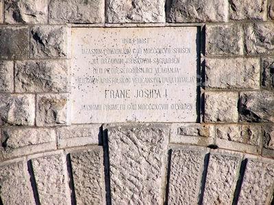Natpis na most Franje Josipa